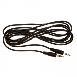 Black Stereo Audio Leads 3.5mm Jack to 3.5 mm Jack Cable Length 2 metres