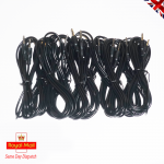 Black Audio Lead 3.5mm Jack to 3.5 mm Jack Cable Length 2 metres