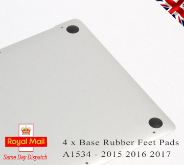 4 x Apple Macbook Pro Retina A1534 - 2015 2016 2017 Bottom Base Rubber Feet Pads