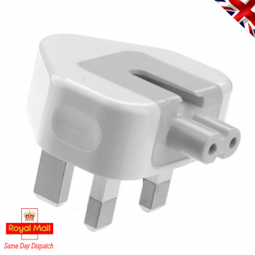 "Power Plug for Apple Macbook Air 11"" Pro 13 15 17 MagSafe1 Magsafe2 UK 3A 3 pin"